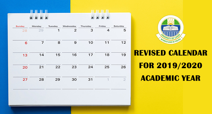 REVISED CALENDAR FOR 2019/2020 ACADEMIC YEAR