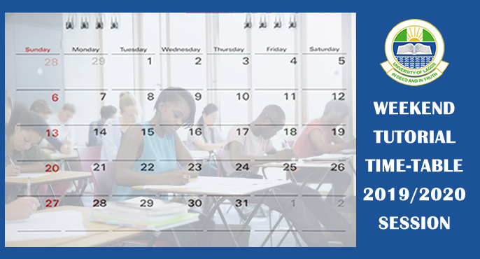 WEEKEND TUTORIAL TIME-TABLE 2019/2020 SESSION