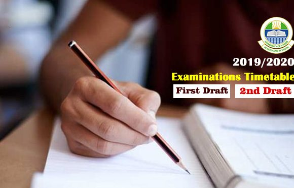 2019/2020 Examinations Timetable (1st & 2nd Draft)
