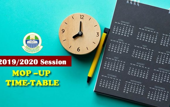 MOP –UP TIME-TABLE (2019/2020 SESSION)
