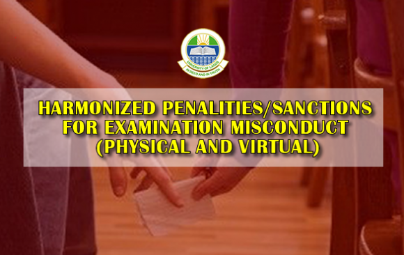 HARMONIZED PENALITIES/SANCTIONS FOR EXAMINATION MISCONDUCT (PHYSICAL AND VIRTUAL)